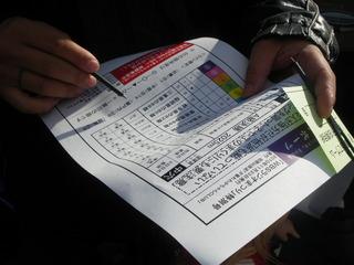 参加券(投票用紙)とともに配布されたA4の紙。これって何だ?