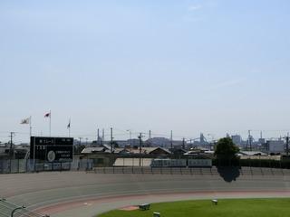 最終日 ガールズレースの頃には快晴になりました