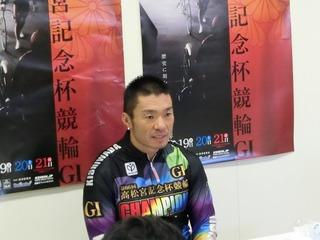 優勝共同インタビューの武田選手