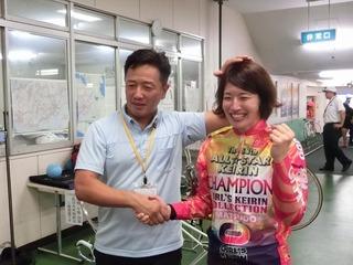 石井貴子選手「恩返しができて嬉しい」