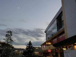 夕やみ迫る松戸競輪場の上空