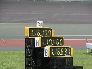 記録は1分16秒631 全体の2位で決勝進出です