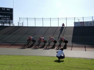 男子4�qチームパーシュート予選 和歌山県チームの一糸乱れぬ走り
