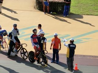 少年男子スプリント予選 出走前の布居選手