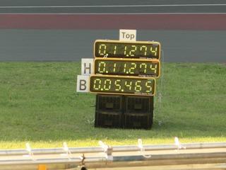 布居選手のタイムは11秒274