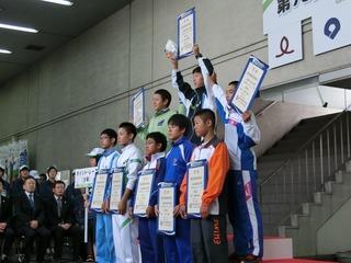 少年男子ポイントレース表彰式