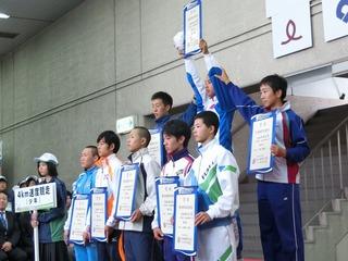 少年男子4�q速度競走表彰式
