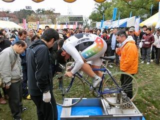 小林選手のスピードチャレンジ