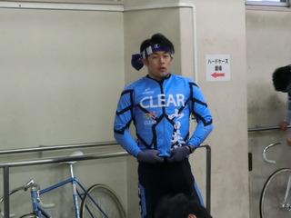 ウォームアップ直前の山田選手