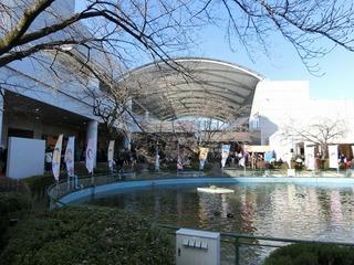 京王閣競輪場内の池