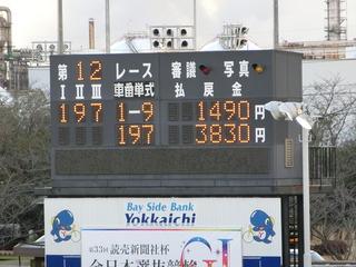 新田優勝でしたが、本線車券にしてはまずまずの配当
