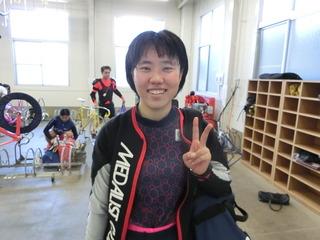 橋本選手「もう少し持久力つけます」