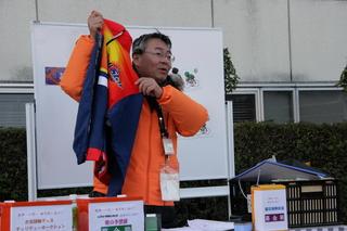 井上薫さん出品の甲子園オールスター参加記念サイクルジャージも