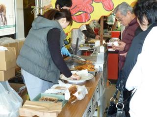 天ぷら販売コーナー