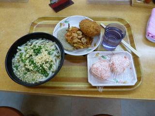 うどん大&天ぷら3種&おにぎり