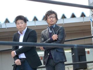 山口幸二選手(右)と深谷知広選手(左)のトークショー
