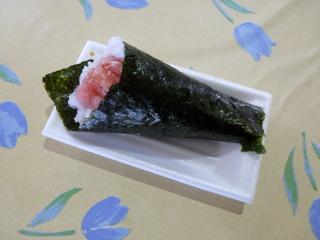 マグロ手巻き寿司 200円也