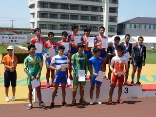 男子チームスプリント表彰式