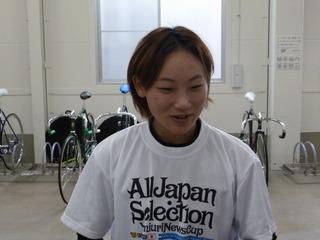 「位置取りだけを考えていた」と話す竹井選手
