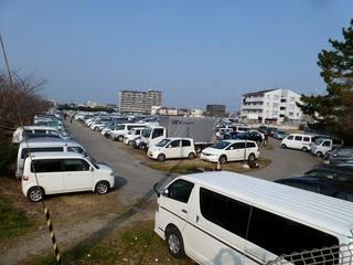 GP当日の朝 第4駐車場には多くの車が