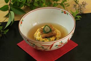 穴子茶巾炒り卵のワサビあん.jpg